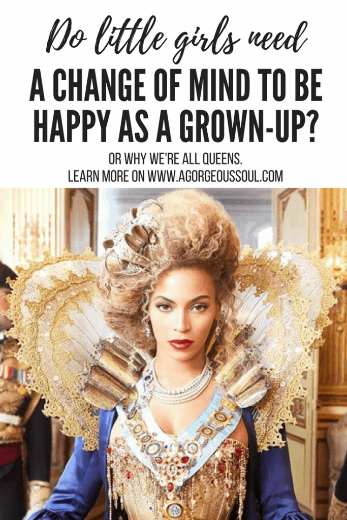 Empower girls: Pinterest Pin with Queen B aka Beyonce in queen costume
