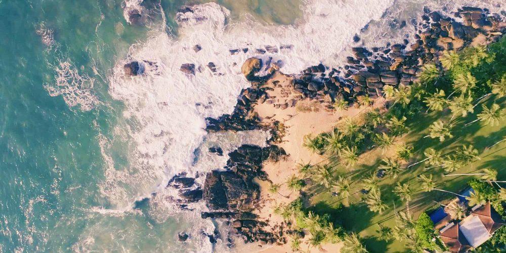 Drone Shot of Sri Lanka Beach - AGS