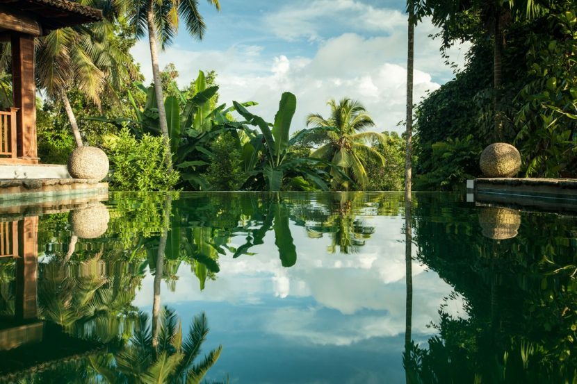 Saltwater Pool in front of Sri Yoga Shala, Sri Lanka.