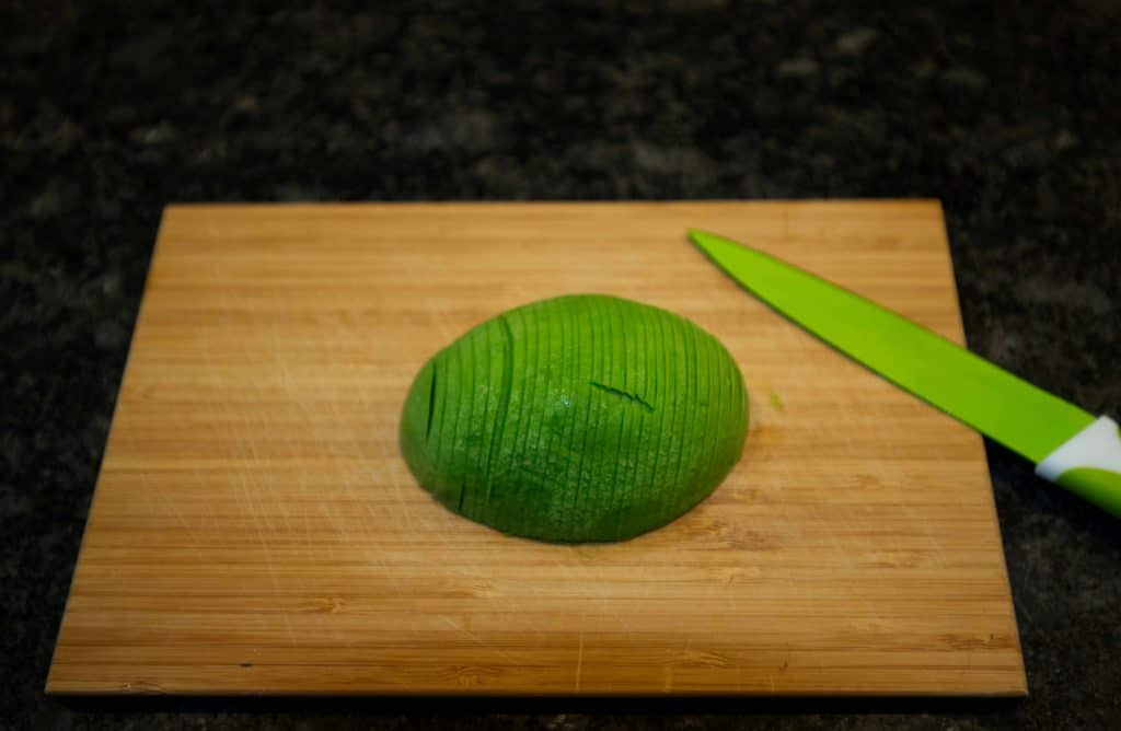 Avocado cut in slices