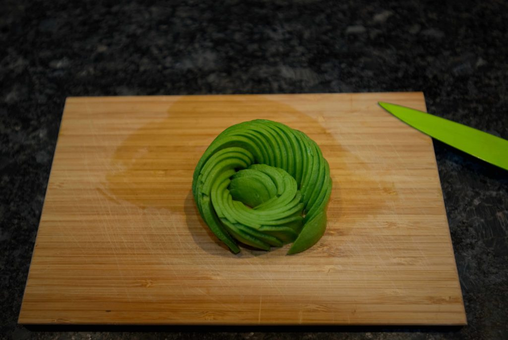 Finished Avocado Rose