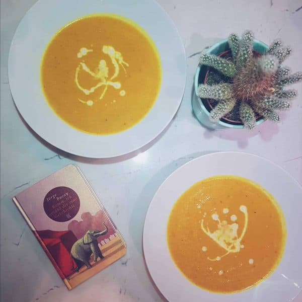 Flatlay Pumpkin Soup