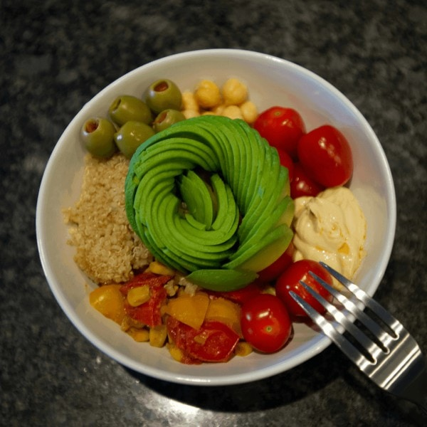 Avocado Rose in Buddha Bowl