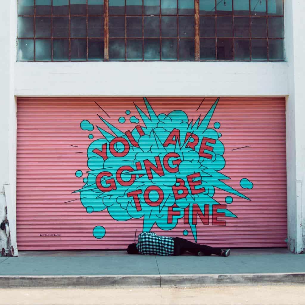 Graffiti on garage, Coaching by A gorgeous Soul
