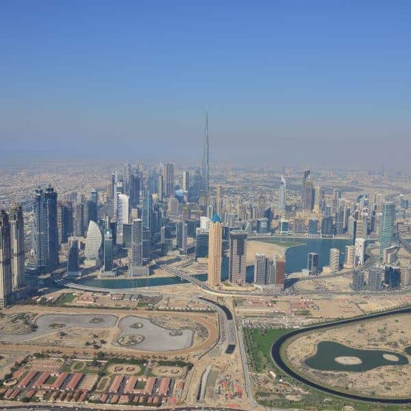 Downtown Dubai from above - Things to do in Dubai