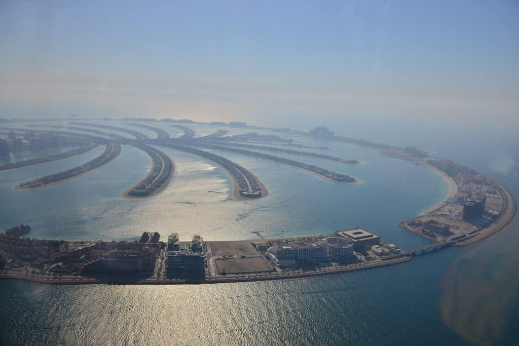 The Palm Dubai from above - Things to do in Dubai
