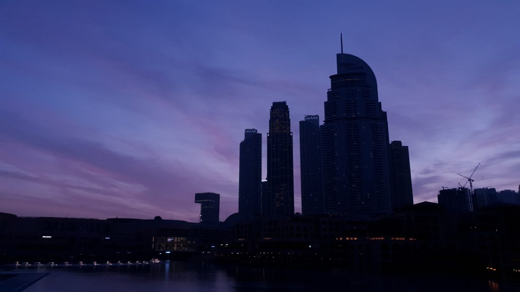 Dubai Downtown Early Morning Skyline