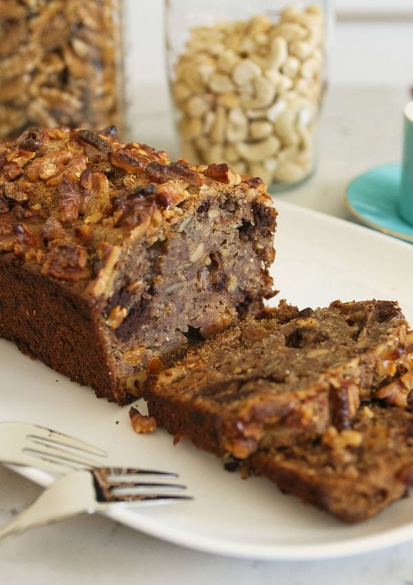 Easy Vegan Banana Bread Recipe [Gluten-free, Sugar-free, 1-Bowl]